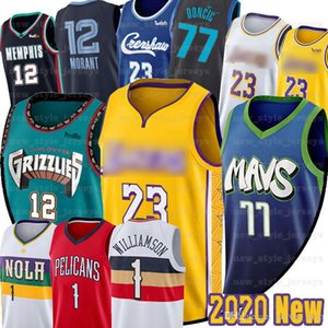 Hommes 1 Zion NCAA Williamson LeBron James Luka 77 enfants Doncic Jersey Ja 12 Morant 2020 New College Murray State Basketball Racers Jersey