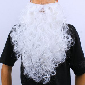 Père Noël cosplay Curly blanc Chapeau Barbe et Moustache perruque Costume Party des Fêtes de Noël
