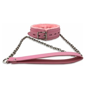 PU Leather Collars Choker with Long Chain Detachable Leash for Women Men BDSM Sex Toy Neck Collar Leather Bondage Adult Games T200630