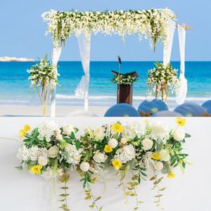 flor de la boda de encargo disposición de simulación decoración flor falsa apoyos arco arreglo floral escena de la boda carretera principal LJJA3322-1