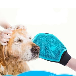 Silicone Dog Cleaning Brush Glove Deshedding Gentle Efficient Pet Grooming Glove Dog Cat Bath Supplies Pet Glove Combs