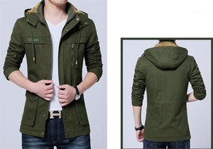 Langärmlig Oberbekleidung Baumwolle gefütterte Oberbekleidung Winter warme Herren Coats Large Size Herrenmode Designer-Jacken