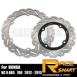 Para NC X ABS 700 2012 - 2013 Rider motocicleta CNC travões dianteiro e traseiro Disk Motos freio a disco discos de rotor NC 700X ABS