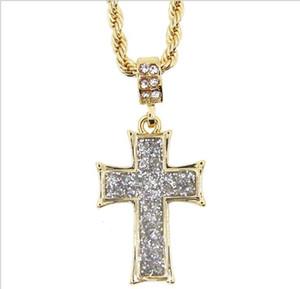 Nouvelle personnalité européenne et américaine True Gold plaqué or croix collier Chaozhou Hip Hop bijoux accessoires bijoux pour hommes