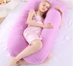 Super macio cristal tecido de veludo travesseiro multifuncional descanso lateral em forma de U lavável almofada sesta para mulheres grávidas