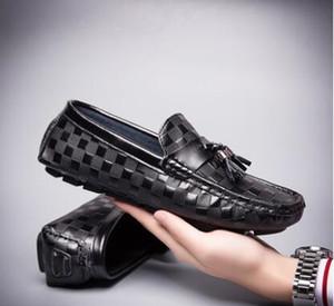 2020 Erkekler Elbise Ayakkabı Gölge Patent Deri Lüks Moda Damat Düğün Ayakkabı Erkekler Lüks İtalyan tarzı loafer'lar Ayakkabı Boyutu: 39-44