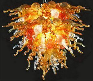 2020 удивительные дешевые люстры освещение дома Янтарь и прозрачные украшения художественный готический ручной выдувное стекло Современные подвесные светильники