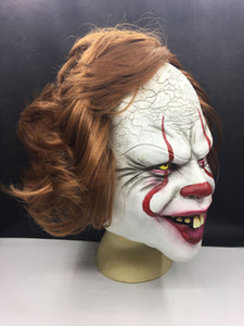 Stephen King Clown Masque Masque complet Horreur Joker Masques en latex Clown Masque Halloween cosplay costume équipement Parti Masques DBC VT0944