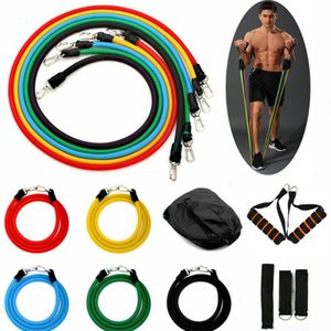 11pcs set Pull Rope Fitness Exercises Resistance Bands Latex Tubes Pedal Excerciser Body Training Workout Yoga Elastic Pull Rope