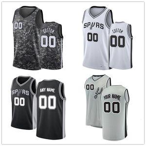 Personalizzato Dejounte 5 Murray Manu Ginobili 20 Tim Duncan 21 San AntonioSpurs Shorts DeMar 10 Bianco misura pullover di pallacanestro DeRozan 4