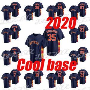 2020 21 Zack Greinke 22 Josh Reddick 23 Michael Brantley 27 Jose Altuve 34 Nolan Ryan 35 Justin Verlander 38 Joe Smith Marinha do arco-íris Jersey