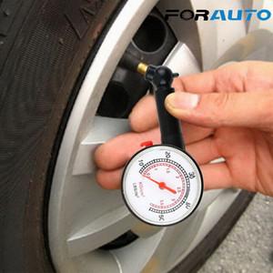 FORAUTO Auto bici del motor de aire del neumático calibrador de presión Sistema de seguimiento de vehículos probador de diagnóstico del coche del neumático del coche del metro del calibrador de presión