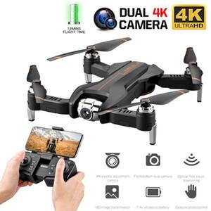 1 Adet Çift Lens Drone 4K 1080P WIFI Optik Akış Katlama HD Elektrikli Ayarlanabilir Hava Quadcopter S5 Drones Aircraft