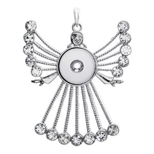 Hot Großhandel Snap-Halsketten-Anhänger Mode Strass Kristall Statement Frauen Halskette Fit Rivca Sanp Knopf Schmuck