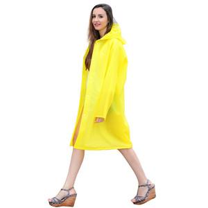 Yuding Raincoat EVA épais à long Rainwear Universal Waterproof Randonnée pluie manteau à capuchon Poncho