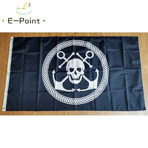 Anchor and Skull Flag 3*5ft (90cm*150cm) Polyester flag Banner decoration flying home & garden flag Festive gifts