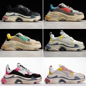 2019 Fashion Triple S Dad Shoes Best Quality Triple-S Casual Shoes Trainer zapatos Men Women Casual Shoes Sport 35-45