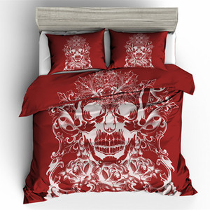 Sugar Skull Bedding Sets queen size 3D skull Duvet Cover set Bed bedline
