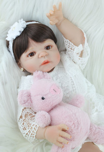 BZDOLL 55cm corpo de Silicone Reborn Baby Toy Lifelike Vinyl Princess Toddler Doll Birthday Gift Girl Brinquedos MX200414