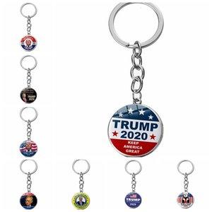 24 أنماط TRUMP 2020 سلسلة المفاتيح الرئيس قلادة سلسلة مفتاح حلقة مفاتيح الولايات المتحدة الرئيس شارة مفتاح الحزب لوازم حزب صالح T2I51002