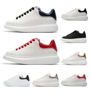 2019 Nova Temporada Sapatos de Grife de Moda de Luxo Mulheres Sapatos de Couro dos homens Rendas Até Plataforma Oversized Sola Sneakers Branco Preto Sapatos Casuais