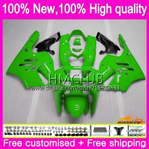 Body For KAWASAKI ZX 9R ZX900 CC ZX-9R 94 95 96 97 Kit 69HM.23 ZX900CC ZX 9 R 94 97 900CC ZX9R 1994 1995 1996 1997 Full Glossy green Fairing
