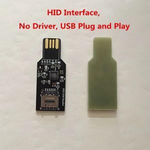 USB 2.0 الثابتة دونغل لإطلاق بطاقة سيم تحديث لChinasnow Heicardsim HID واجهة أي سائق.