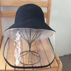 Koruma Şapka Anti-tükürme Koruyucu Balıkçı Cap Açık Emniyet Savunma Tam Güneş-gölge Güvenlik Şapka LJJO7644 Maske