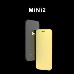 Originale Geecoo Mini 2 di lusso del telefono delle cellule del metallo telefono Super Mini ultrasottile Card con pulsante MP3 di tocco Bluetooth 2.0 cellulari mobili Dialer