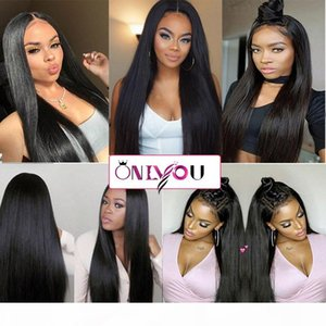 Onlyou Hair@ Silky Straight Lace Front Wig Brazilian Virgin Human Hair Full Lace Wigs for Women Natural Color 8-24inch Human Hair Lace Wigs