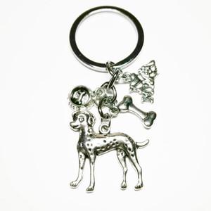 Yeni moda takı, mini anahtarlık, köpek anahtarlık, kemikler, köpek pot, seviyorum benim köpek anahtarlık gümüş Dres S zarif Diy el yapımı 349