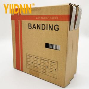 "YIIDNN tipo 304 Stainless Steel Band 3/4"" Wide x 0.020"" Thick x 100 Pé rolo 19 milímetros * 0,5 milímetros * 30m"