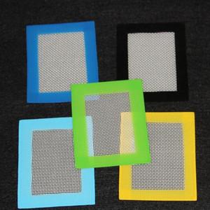11 * 8.5cm silicona Formas Mats antiadherente de Silicón con Fibferglass Silicona Estera del corte de la hornada de los pasteles Herramientas CCA11217-A 100pcs