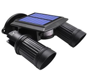 La lumière actionnée solaire superbe lumineuse de 14 LED de capteur de mouvement de PIR imperméable, a mené les lumières solaires le réverbère extérieur de lampe de sécurité de jardin