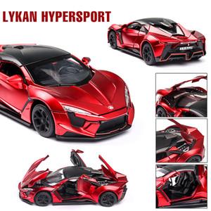 1:32 Lykan HYPERSPORT aleación modelo de coche de juguete Funde automóviles de juguete del coche de metal de recogida de juguetes infantiles juguetes para los regalos de los niños Los niños Y200109