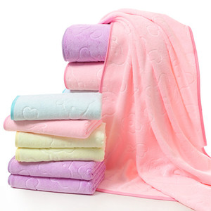 Bär Präge Badetuch Baby Verdicken Decke Wasseraufnahme Pad Polyesterfaser Weiche Tägliche Notwendigkeiten Blau Gelb 13 8qh C1