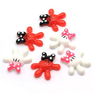 Hot mouse Mani della resina di modo Cabochons più popolare delle resine di FlatBack Kitsch Guanti Craft mouse Guanti Beads Cabs Slime