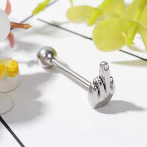 1 stücke palm Tongue Ring Edelstahl Barbell Zungenpiercing Stud Plug Schmuck schöne Piercing Schmuck für frauen männer