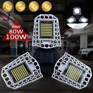 Bulb garagem Luz 100W 80W 60W Lâmpada LED E27 LED LED Light Sensor deformáveis Lamp garagem Luz 2PC / LOT, 5PC / LOT