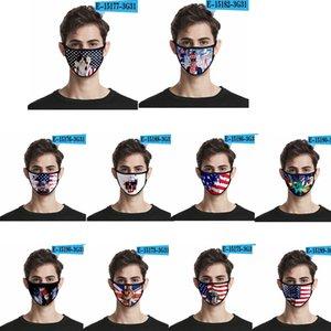 36styles de la bandera de Estados Unidos en 3D Máscara de América Día de la Independencia de la mascarilla máscaras a prueba de polvo lavable 2020 Boca cubierta protectora Manera GGA3511-4
