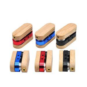 Designs dernière pipe cigarette cigare en bois en alliage Fold Smoking Pipes Petit fumée Accessoires Noir Rouge Bleu Couleur 6 5yh E1