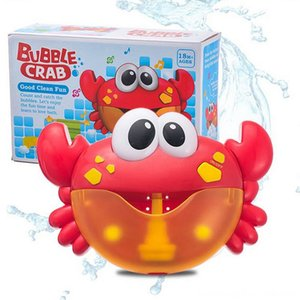Electric Crab Bubble Machine Bathtub Bubble Maker Light Other Toys Music Baby Bath Soap Machine Toys Swiming Blower Toy Water Fun For Kids