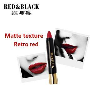 Red&black 8 Colors Lipstick Moisturizer Lipstick Makeup Long-lasting Moisturizer Beauty Lipstick As Blush Makeup Waterproof