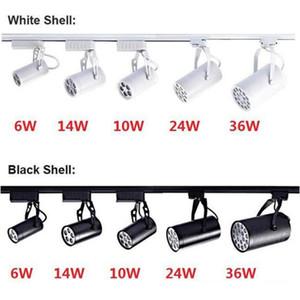 LED-Schienenlicht 6W 10W 14W 24W 36W 120 Abstrahlwinkel kalt / warmweiße LED-Decken-Scheinwerfer Wechselstrom-85-265V LED Spot-Beleuchtung + CE ROHS UL
