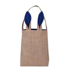14styles Cotton Linen Easter Bunny Ears Bag For Easter Gift Packing Easter Handbag For Child Fine Festival Gift 255*305*100mm