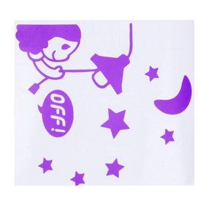 Interruptor de decoración del hogar etiquetas engomadas del interruptor del gato pegatinas de pared interruptor de la luz de la decoración de la etiqueta mural del arte del bebé del sitio del cuarto Pegatinas