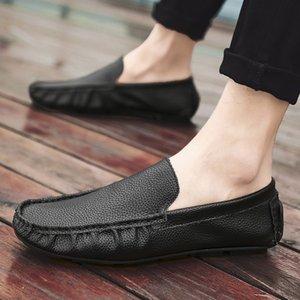 Лето Квартиры Peas Обувь Мужчины моды коровьей мужчина Мокасины ручной работы дизайнера мужской обуви мокасины Слип на Soft бездельников Мужчина