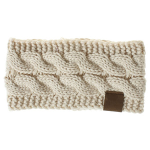 1pc Women Crochet Headband Lady Knit Airband Wide Winter Ear Warmer Headwrap Women Twisted Knitted Yarn Hair Accessories