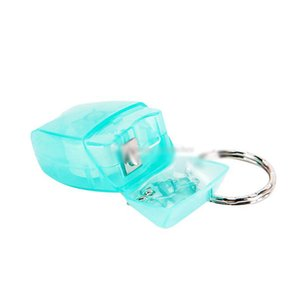 Clinic Gifts Favor Dental Giveaways Mini Dental Floss with Tooth Shape Box 15 Meter 16 Yard Floss Keychain
