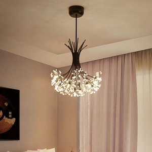 Nordic led chandelier American postmodern minimalist dandelion crystal creative bar bedroom living room dining room pendant lamp - R33